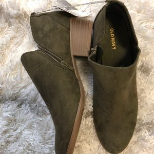 Old Navy Hunter Green Booties